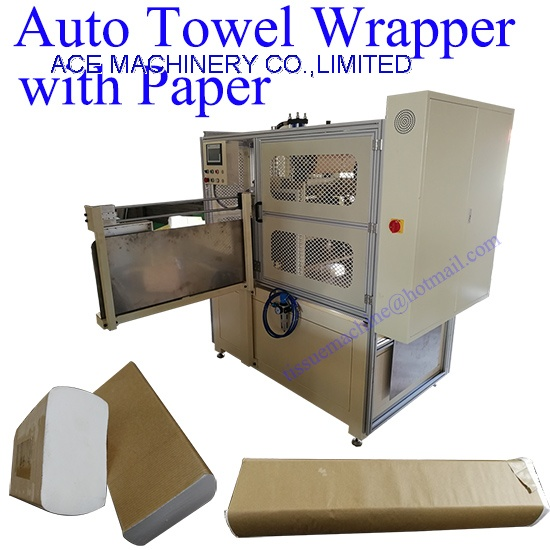 Automatic Paper Wrapper for Packing Paper Hand Towel with Paper Roll