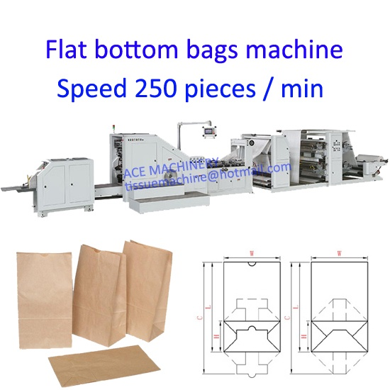 Flat Bottom Food Paper Bag Making Machine