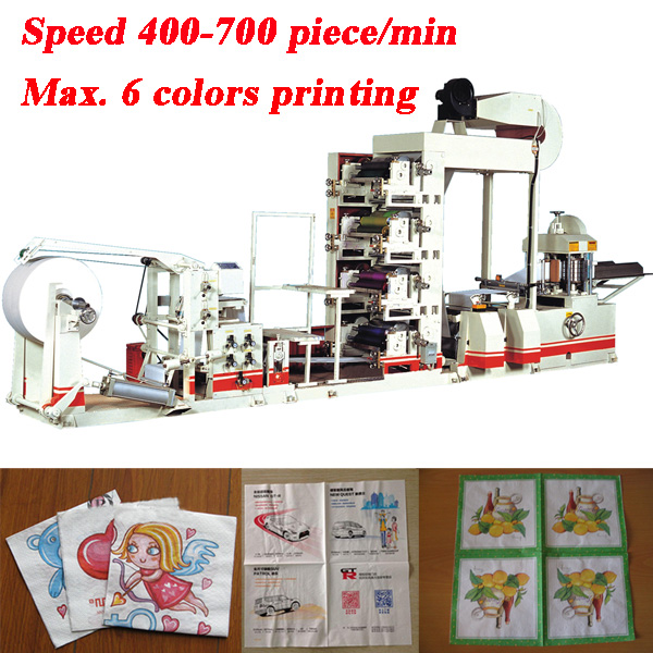 Up to 8 Colors Napkin Tissue Paper Printing Machine High Quality Multi colors Flexo