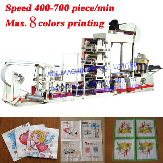 Napkin Paper Machine with 4 Colors Printing