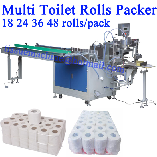 18 24 36 48 Rolls per Pack Multi Hygienic Bath Tissue Roll Bundle Packing Wrapping Machine