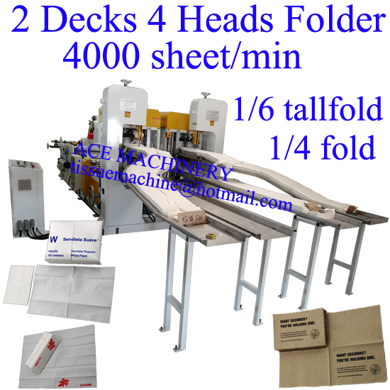 High speed napkin machine 5200 sheet/min made in China copy Italy and Taiwan technology