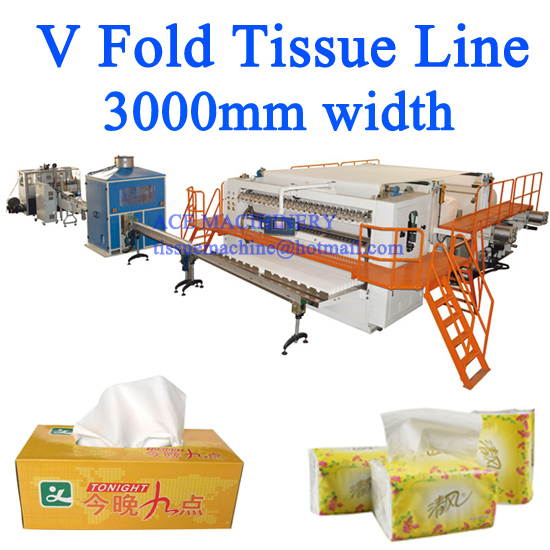 Facial Tissue Paper Machine 3000mm width / Best in China
