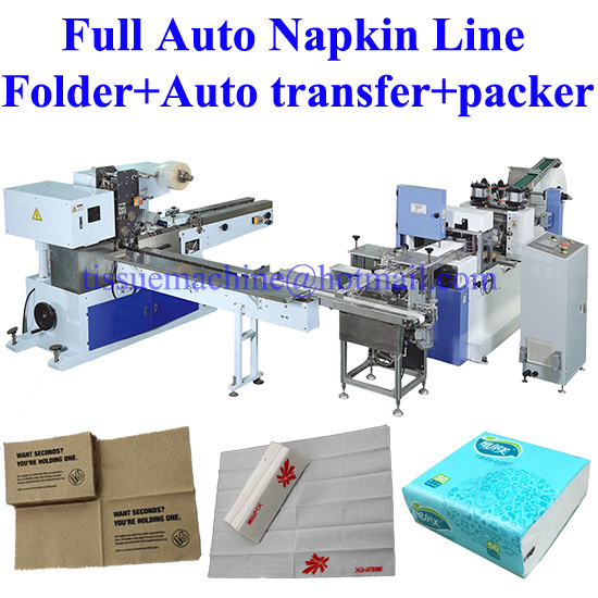 Fully Automatic Paper Napkin Production Line with Auto Transfer