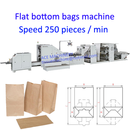 food paper bag making machine with printing