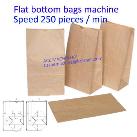 flat bottom food paper bag machine with printing