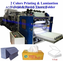 Lamination Printing Facial Tissue V Fold Hand Towel Machine with Automatic High Speed Embossing the Interleaved Pop Up Paper