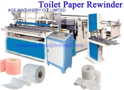 Toilet Paper Roll Bathroom Tissue Making Manufacturing Machine with Rewinding Perforating Embossing for Sale at Good Price Small Scale