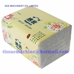 Fully Automatic Interfold Facial Tissue Paper Napkin Tissue Packaging Wrapping Machine