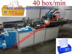 High Speed Automatic Facial Tissue Paper Box Packing Cartoning Sealing Gluing Machine