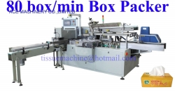 High Speed Automatic Tissue Paper Box Cartoning Sealing Closing Duplex Packing Machine