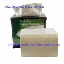 Just1 Interfold Dispenser Napkin Paper with Lamination & Two Colors Printed Embossed Just one napkin, 200x165mm