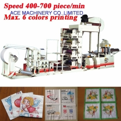 6 Colors High Quality Multi colors Flexo Printing Tissue Paper Napkin Machine