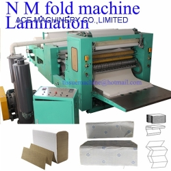 Lamination M W Four Five Six Folds Tissue Paper Hand Towel Interfolder Machine