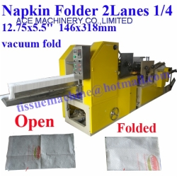 Fold Tissue Paper Napkins with Printing for Table by Small China Manufacture Making Machine for size 12.75x5.5