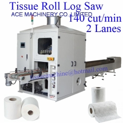 Automatic 2Lanes Toilet Paper and Kitchen Towel Log Saw