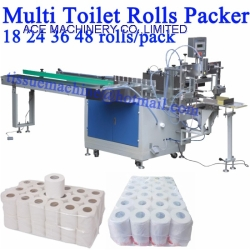 2 Layers 18 24 36 48 Rolls per pack Multi Toilet Roll Bundle Packing Wrapping Machine