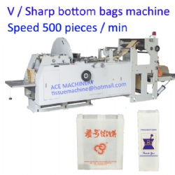 V Sharp Bottom Food Paper Bag Making Machine